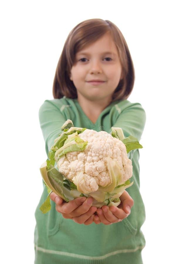 花椰菜女孩 库存图片