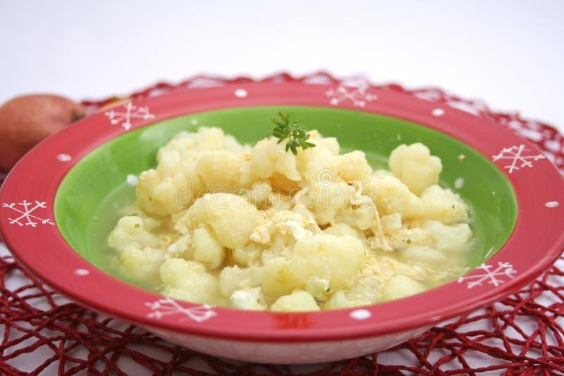 花椰菜炖煮的食物  免版税库存图片