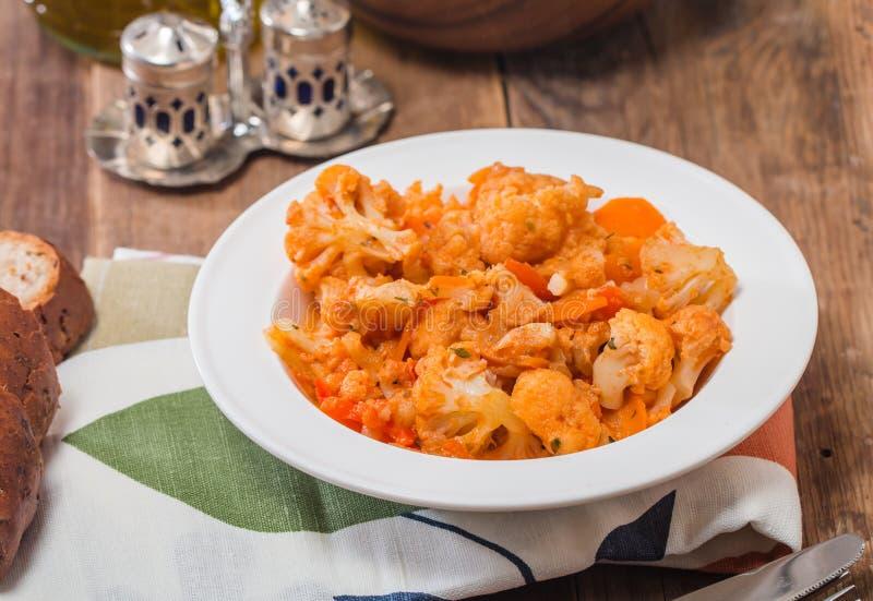 花椰菜炖煮的食物 库存图片