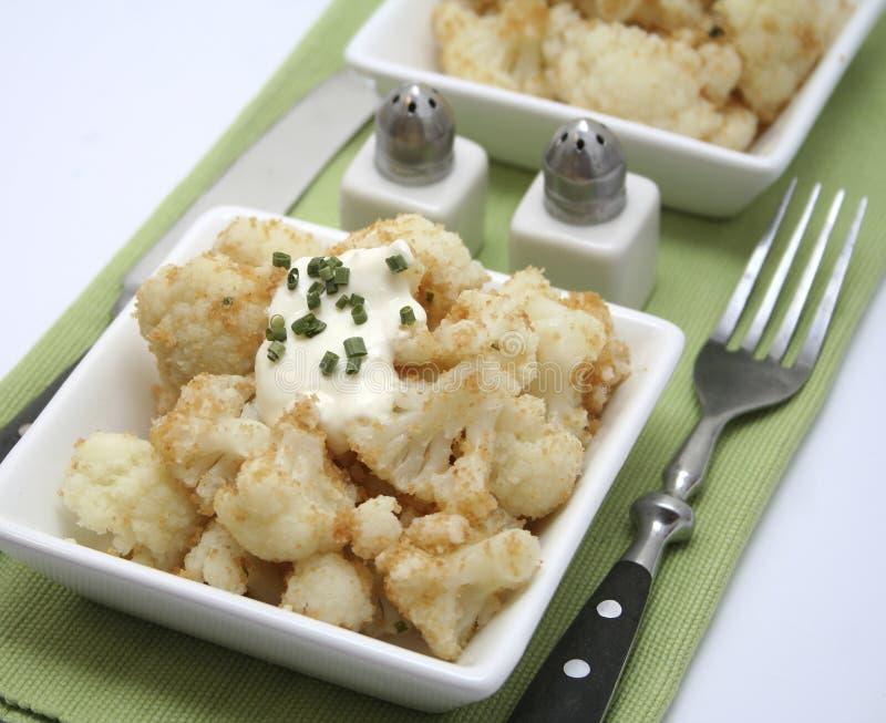 花椰菜炖煮的食物 免版税库存照片