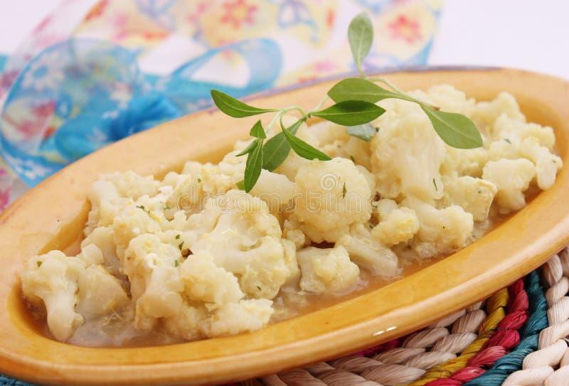 花椰菜炖煮的食物 库存照片