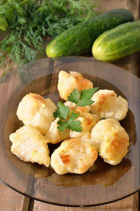 花椰菜烘烤用鸡蛋 免版税图库摄影