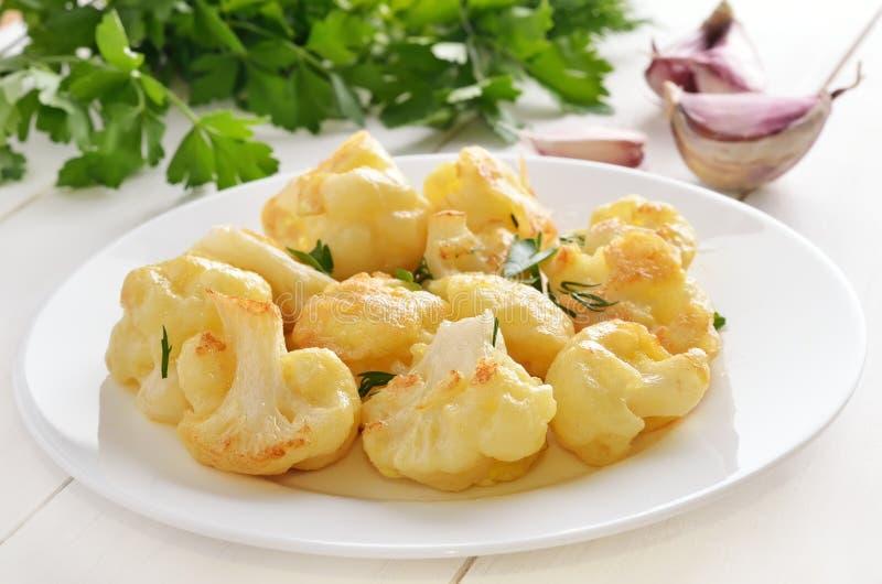 花椰菜烘烤用鸡蛋 库存照片