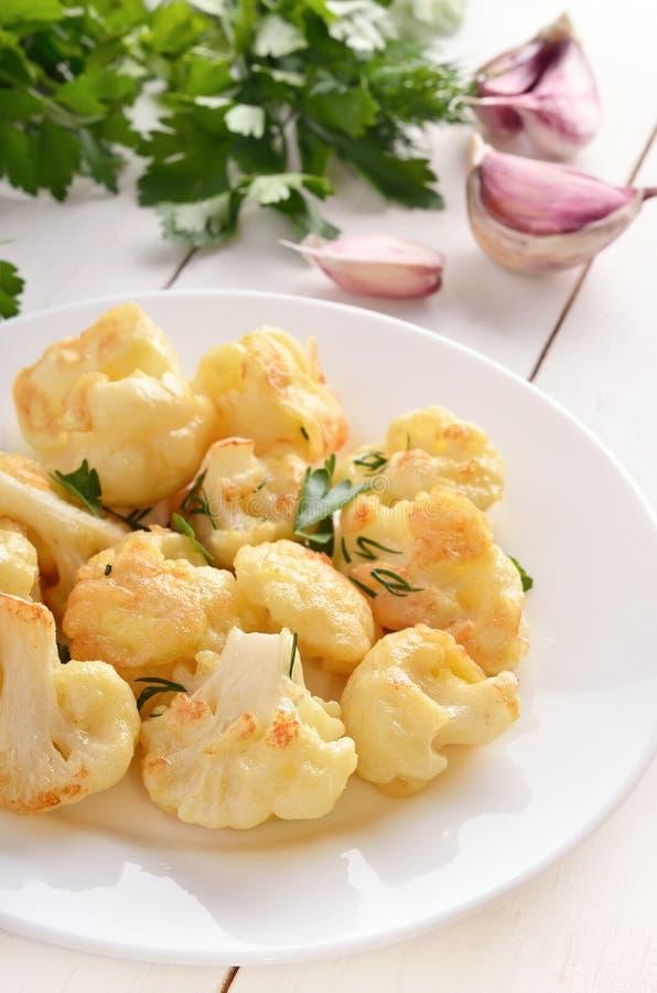 花椰菜烘烤用鸡蛋 图库摄影