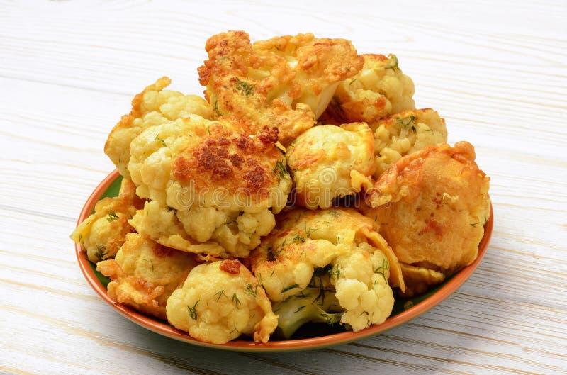 花椰菜烤用鸡蛋 库存照片