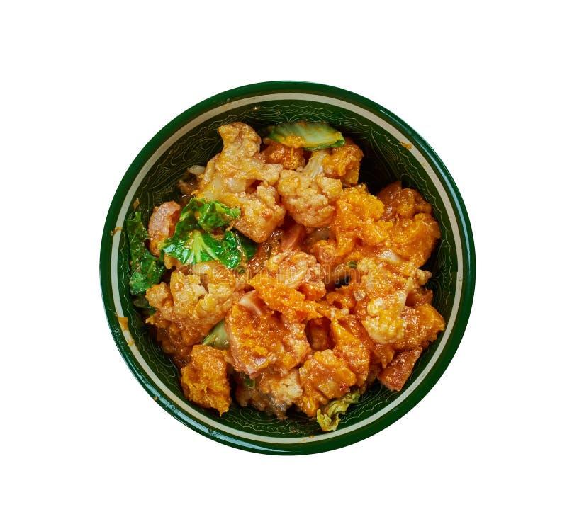 花椰菜菜炖煮的食物  库存照片