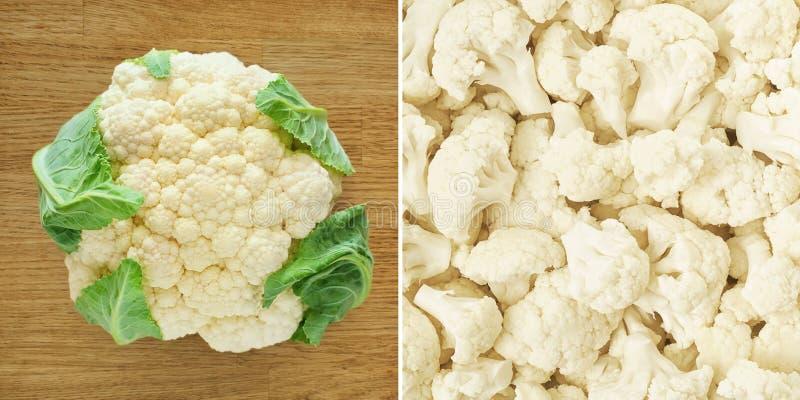 花椰菜 健康背景的食物 免版税库存照片