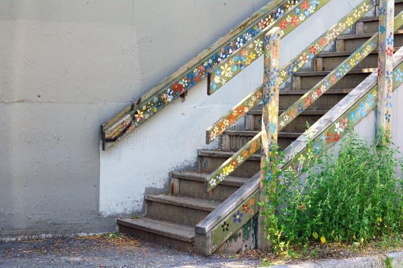 花楼梯 库存图片