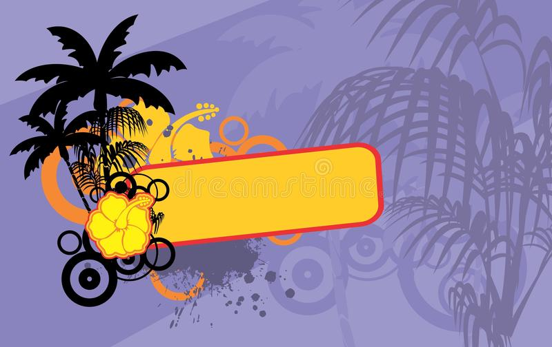 花热带夏威夷copyspace背景 向量例证