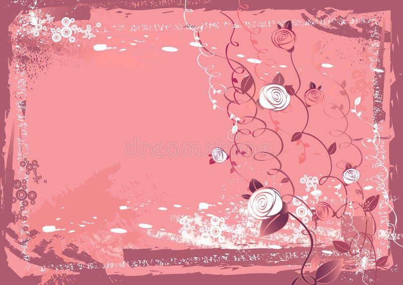 花玫瑰色向量 向量例证