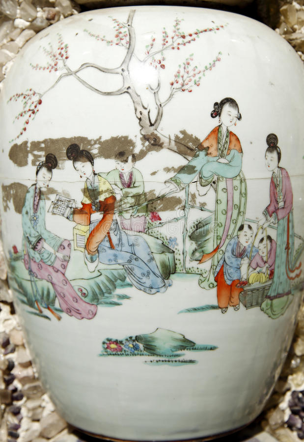 花瓶的古老关闭 免版税库存图片