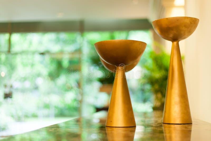 花瓶蜡烛。 免版税库存图片