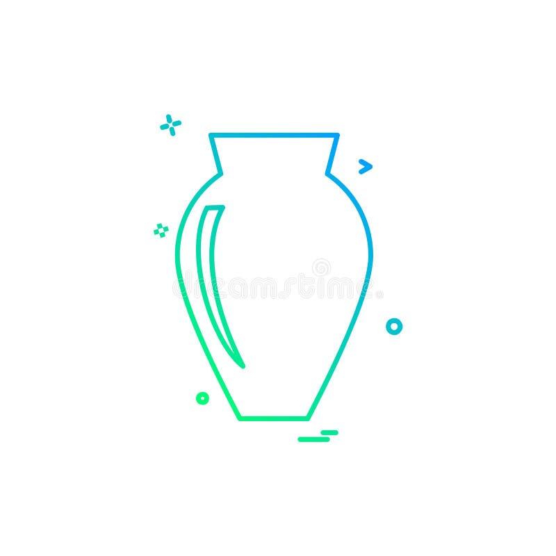 花瓶象设计传染媒介 向量例证