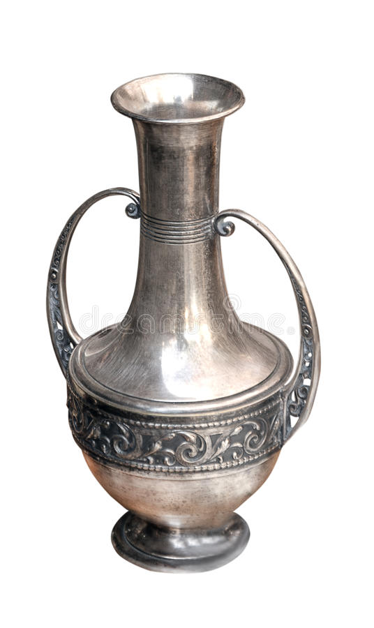 花瓶银色减速火箭 库存图片