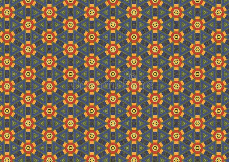 花生锈六角形的模式 库存图片