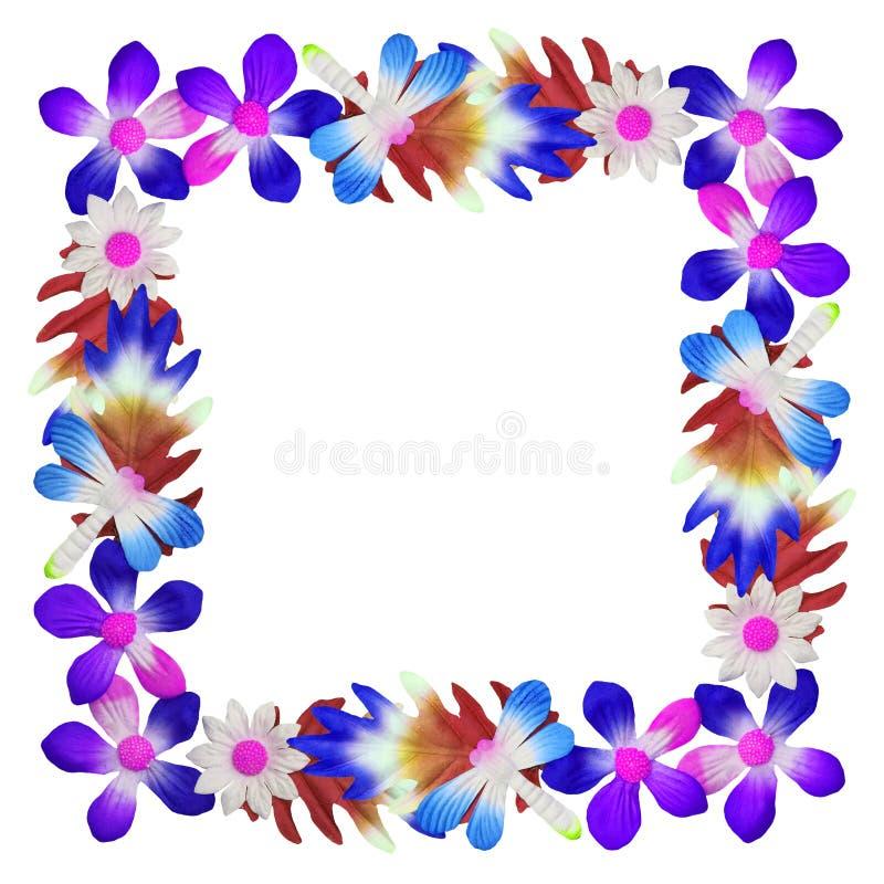 花用于装饰的由五颜六色的纸制成 免版税库存照片