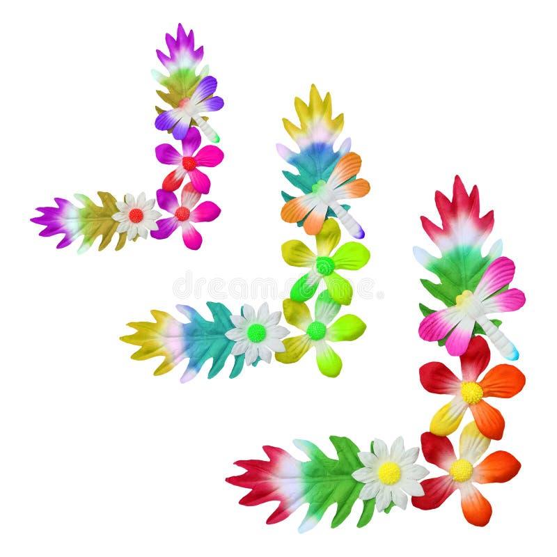 花用于装饰的由五颜六色的纸制成 库存照片