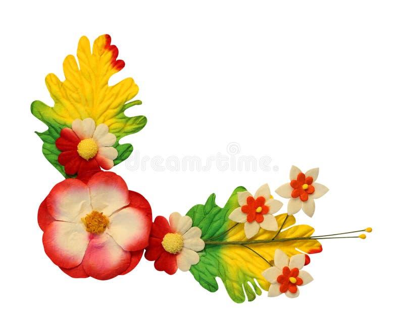 花由五颜六色的纸制成 免版税库存图片