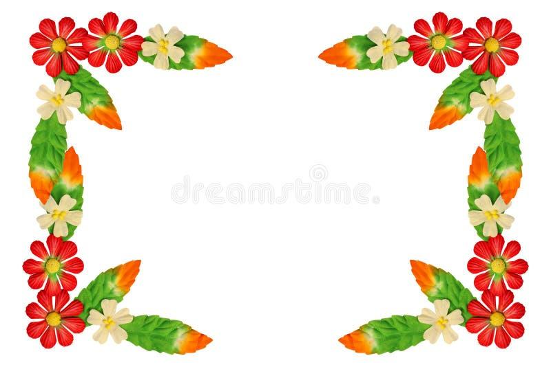 花由五颜六色的纸制成 免版税图库摄影