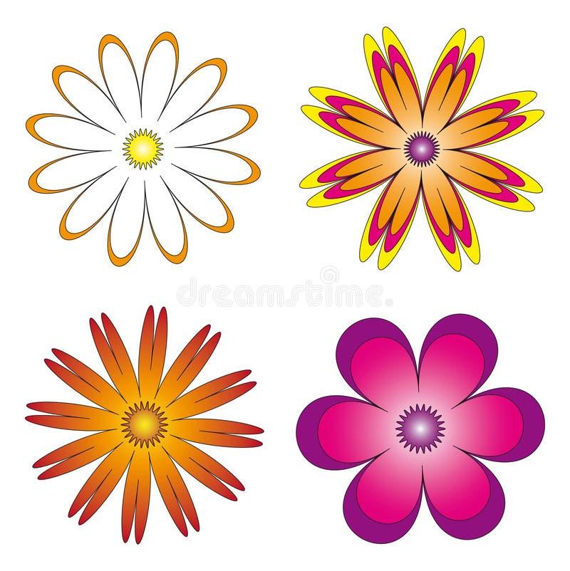 花的各种各样的具体化 库存照片