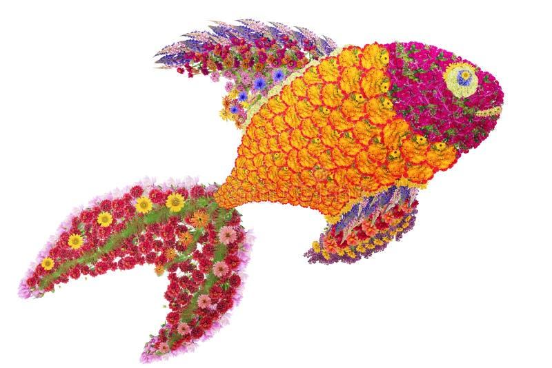 从花的金黄鱼 免版税库存图片