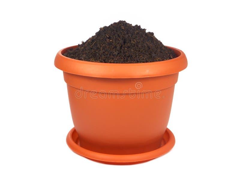 花盆土壤 库存图片