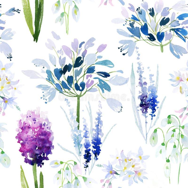 花纹花样无缝的春天 皇族释放例证