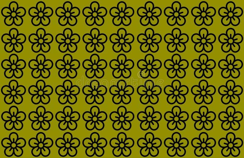 花纹花样有黄色背景 瓣设计被延长的清楚的背景 使用文章,打印,例证, 皇族释放例证
