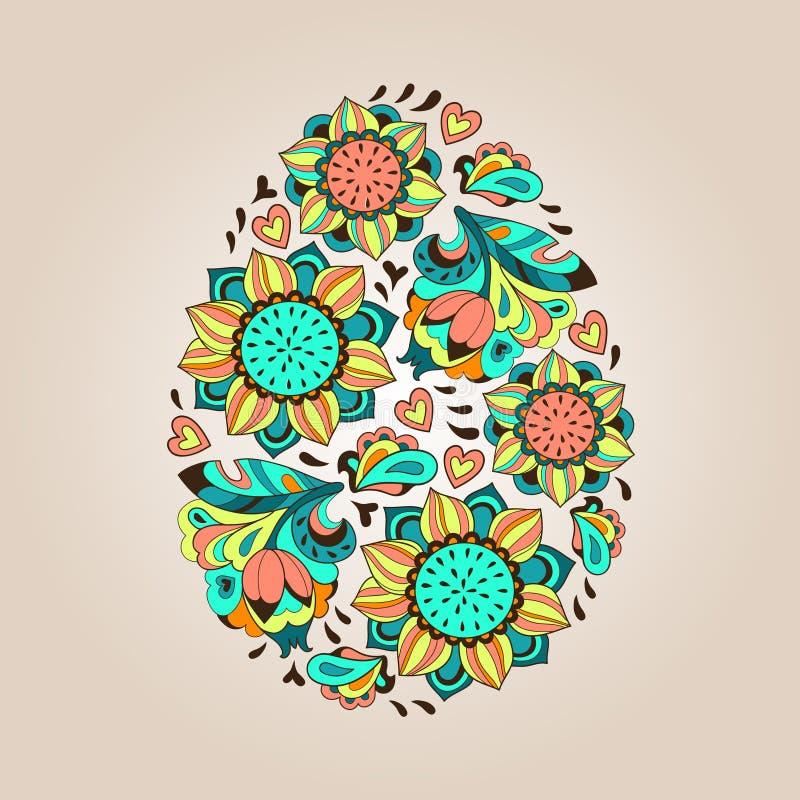 花网眼图案鸡蛋 向量例证