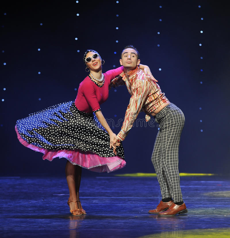 花花公子减速火箭的舞蹈这奥地利的世界舞蹈 图库摄影