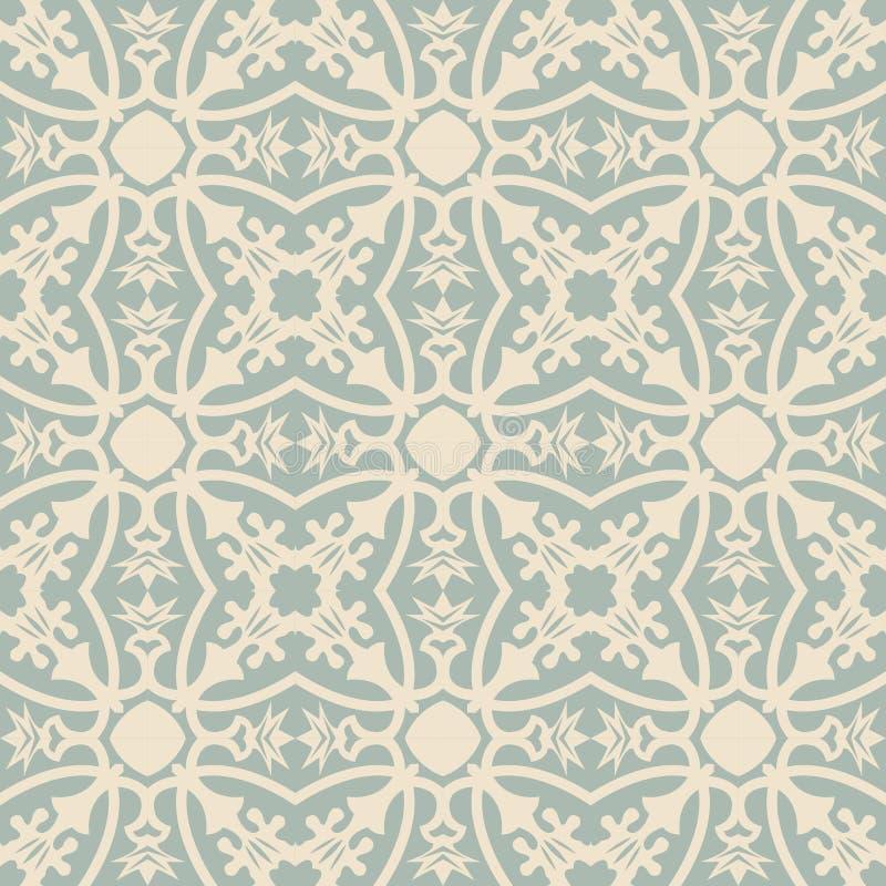 花藤花苞叶子样式的典雅的古色古香的背景图象 向量例证