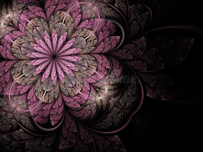 花虚拟分数维粉红色 向量例证