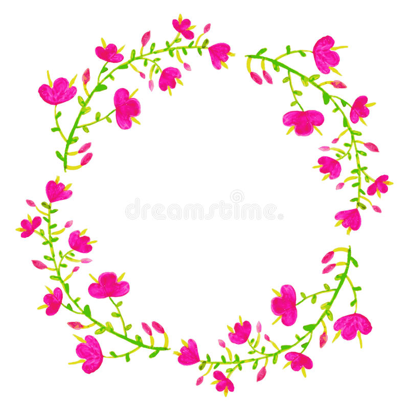 花被设置的向量 与叶子和f的五颜六色的花卉收藏 皇族释放例证