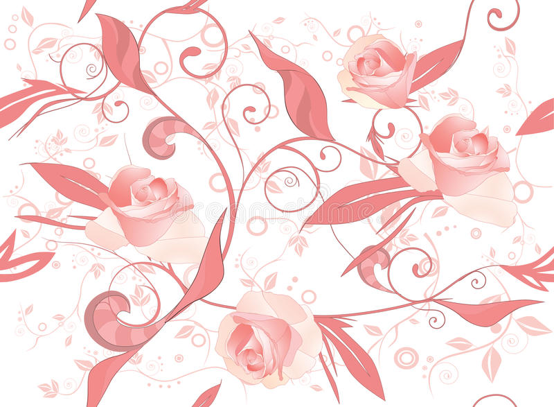 花装饰品模式玫瑰 皇族释放例证