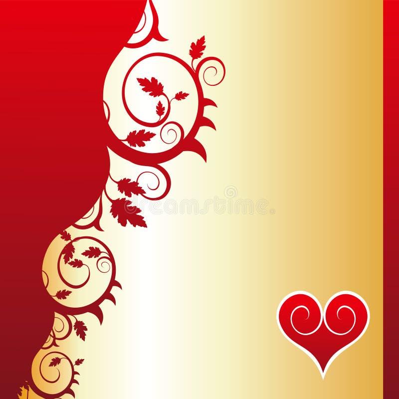 花重点装饰品红色 向量例证