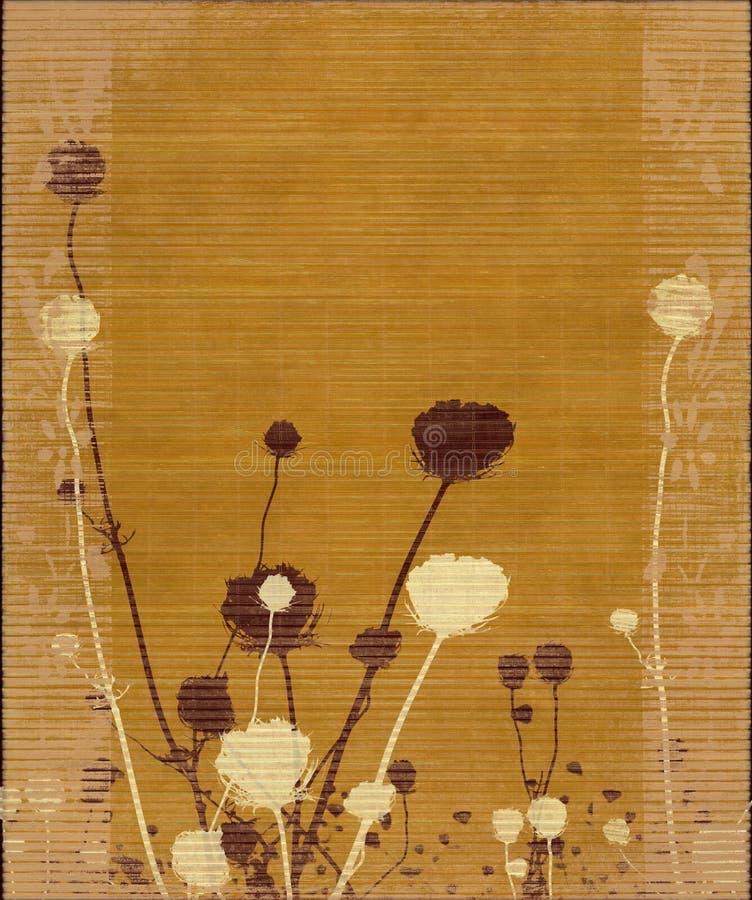花长的草甸剪影阻止了黄色 免版税库存图片