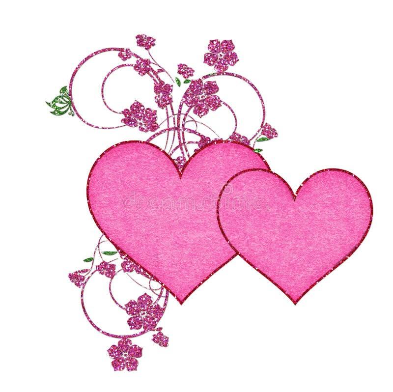 花闪烁重点变粉红色二 库存例证