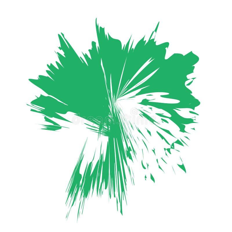 花颜色飞溅(绿色) 图库摄影
