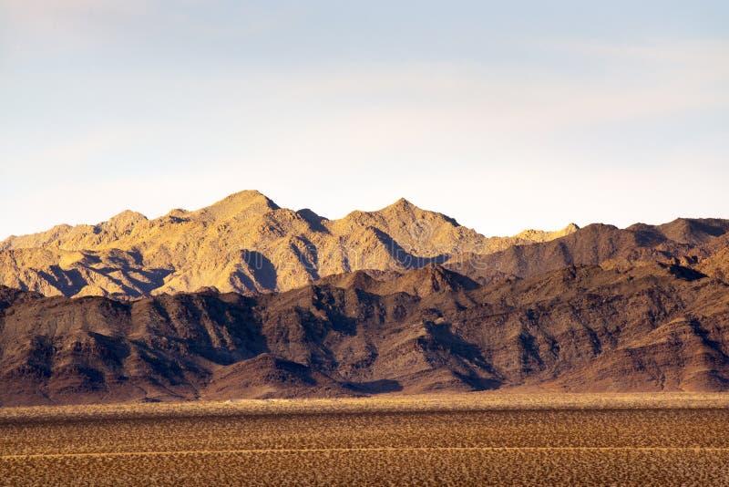 花马山在莫哈维沙漠 图库摄影