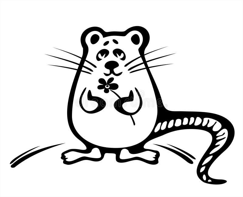 花鼠标 库存例证