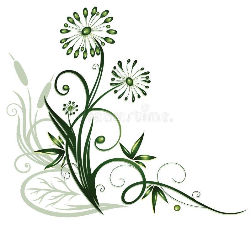 花,水厂 向量例证