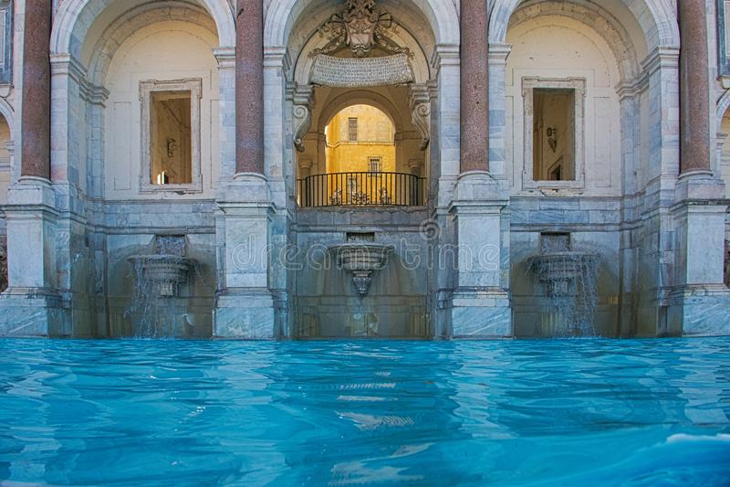 芳塔娜小山谷'贾尼科洛山小山的Acqua保拉,在罗马 库存照片