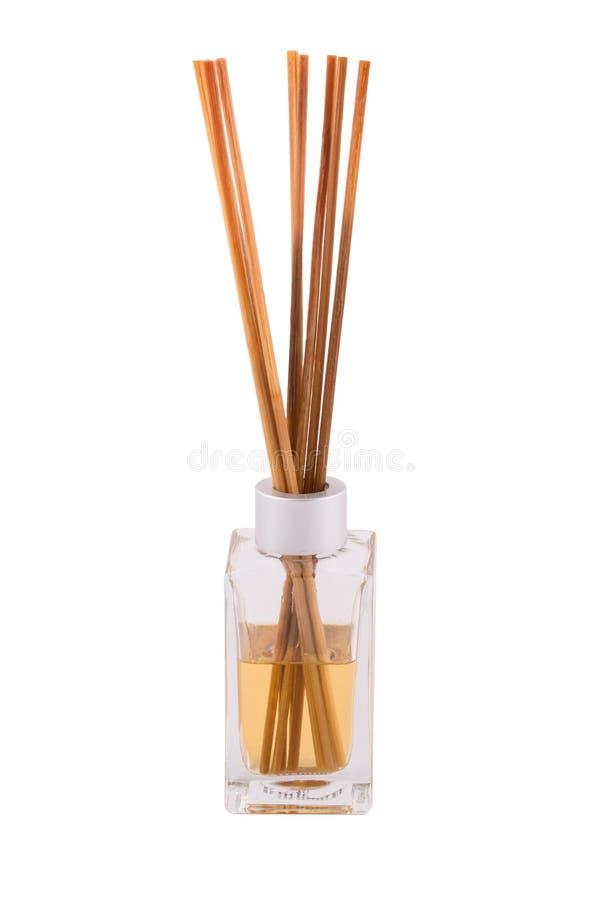 芳香分散器用竹棍子 免版税库存照片