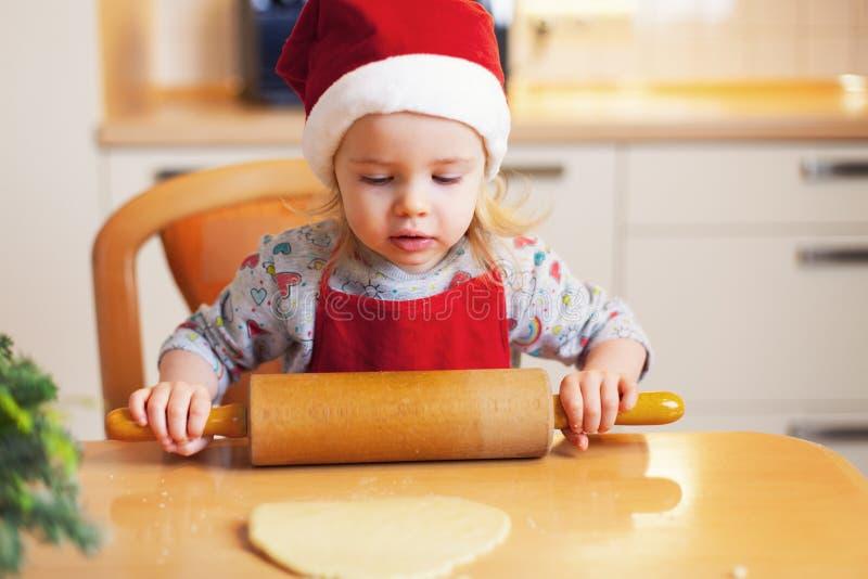芳香烘烤圣诞节曲奇饼姜饼香料 免版税库存照片