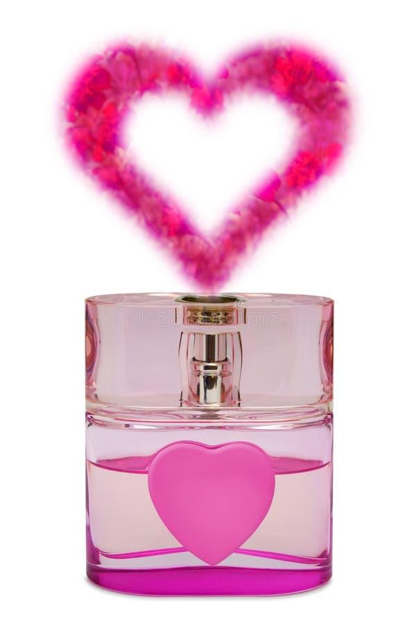 芳香瓶开花象香水的重点 免版税库存照片