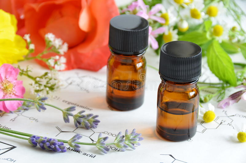 芳香疗法和科学 免版税图库摄影