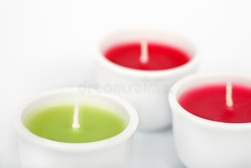 芳香蜡烛 免版税库存图片
