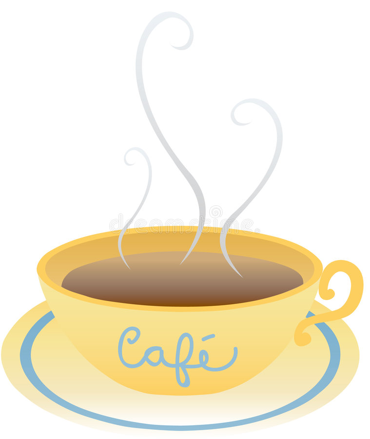 芳香caf 免版税库存照片