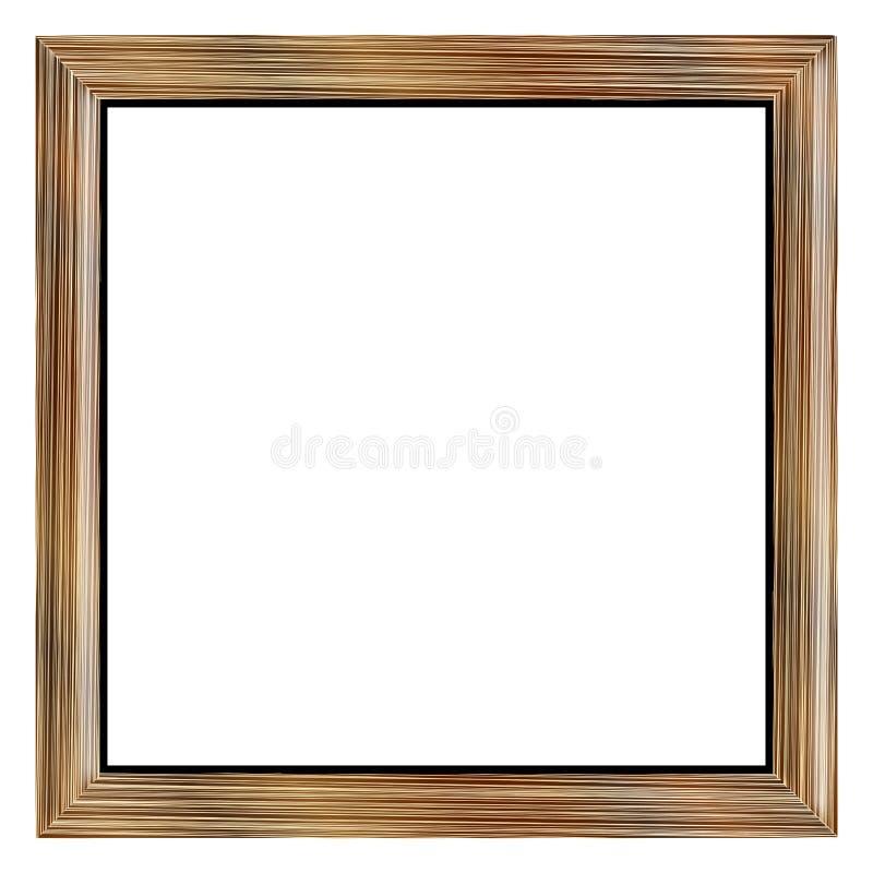 苍白橡木画框作为边界或背景 库存例证