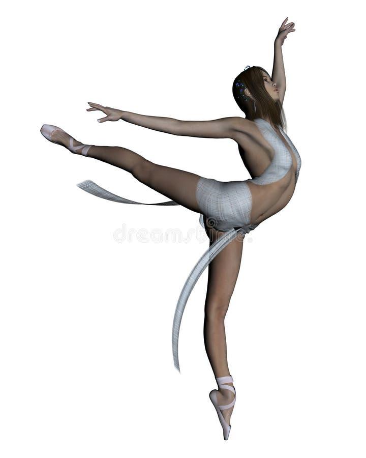 苍白的舞蹈演员 皇族释放例证